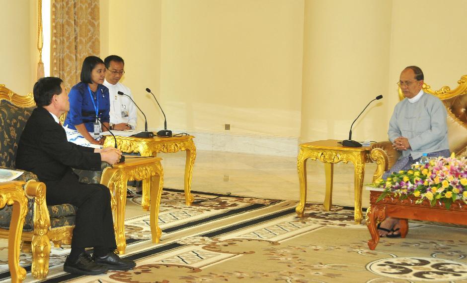 테인세인 미얀마 대통령 면담