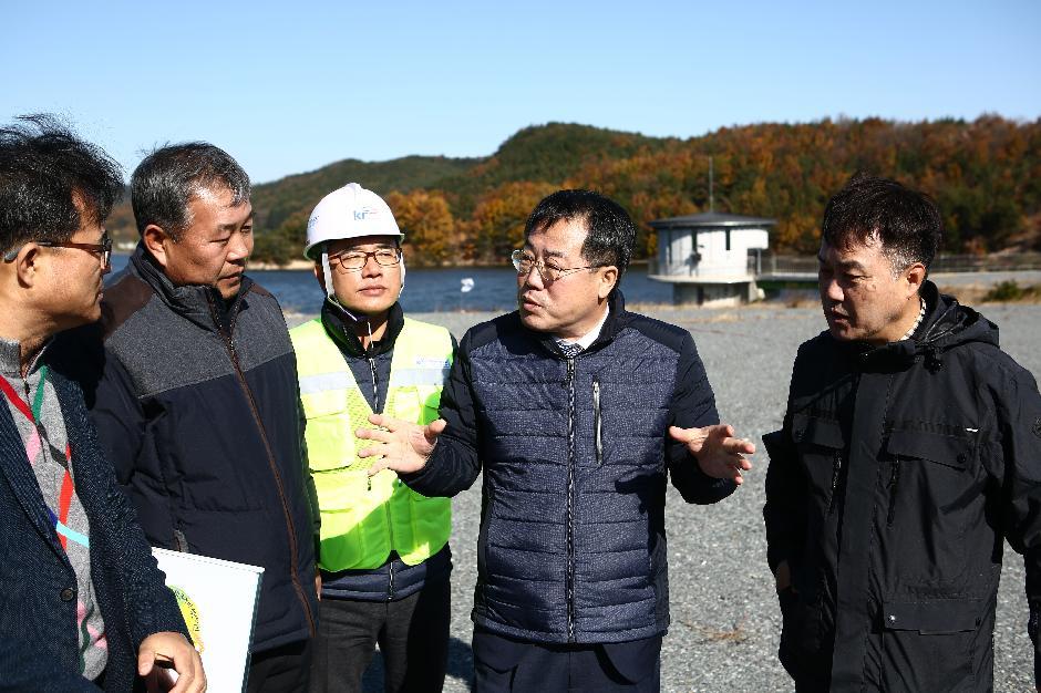 농어촌公 정승 사장, 포항 지진 현장 방문, 저수지 등 농업기반시설 안전