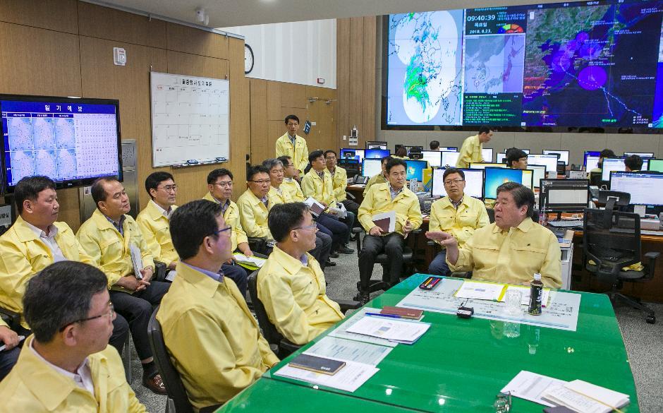 태풍 솔릭 대응 시설물 등 안전상황 점검 및 관리인력 추가 배치